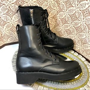 Women Steve Madden combat junky boots, 8,5 sz